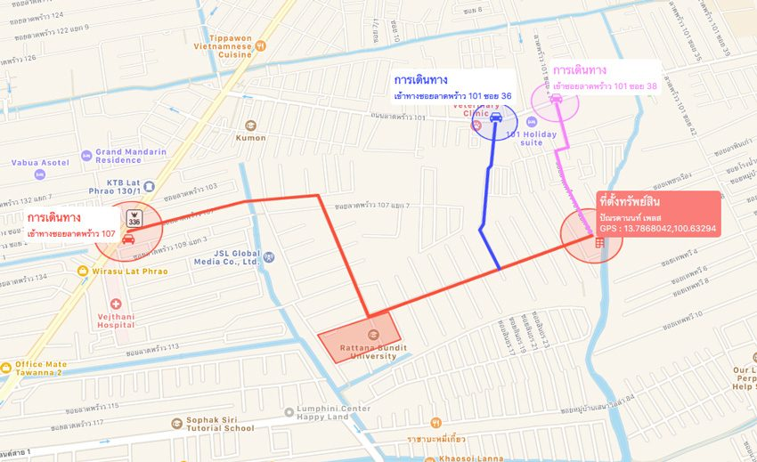 -มหาวิทยาลัยรัตนบัณฑิต-Map